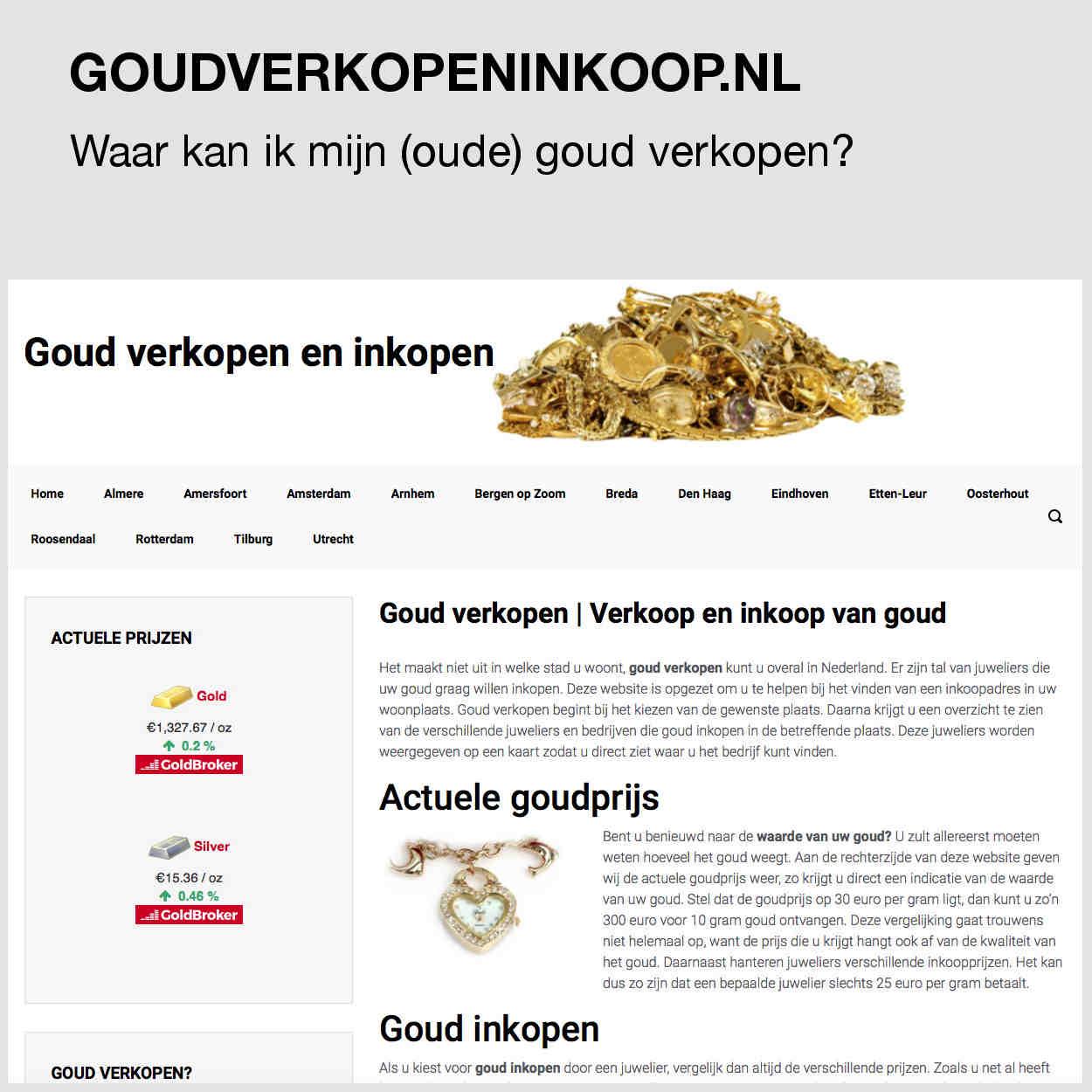 Goud verkopen en inkoop kun je het beste doen via goudverkopeninkoop.nl